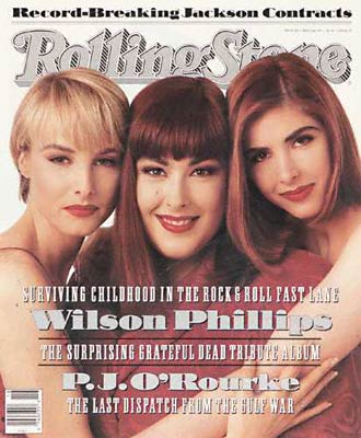 Wilson Phillips on the cover of the Rolling Stone