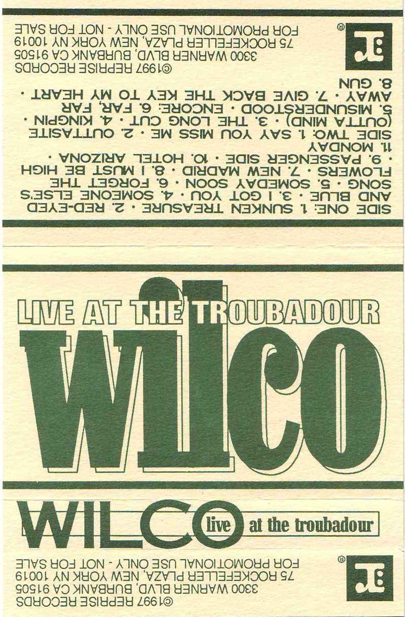 Good Listening Wilco Live At The Troubadour 11 12 96